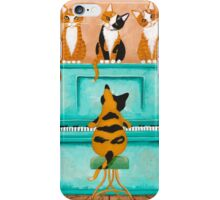 A Purrfect Piano Purrformance iPhone Case/Skin
