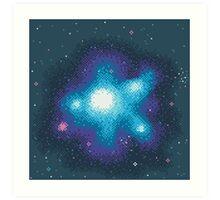 8Bit Galaxies:  Cornflower Nebula Art Print