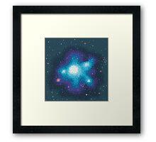 8Bit Galaxies:  Cornflower Nebula Framed Print