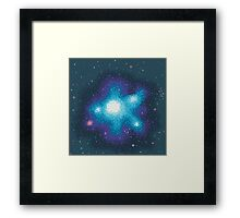 8Bit Galaxies:  Cornflower Nebula Framed Print