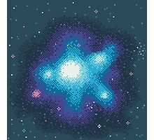 8Bit Galaxies:  Cornflower Nebula Photographic Print