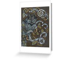 Fenrir (or Wolf Dragon No. 3) Greeting Card