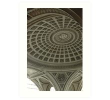 pantheon ceiling Art Print