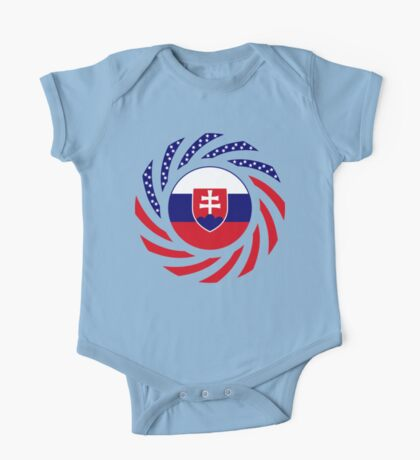 Slovakian American Multinational Patriot Flag Series One Piece - Short Sleeve