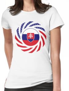 Slovakian American Multinational Patriot Flag Series Womens Fitted T-Shirt