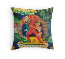 religious mural of tibetan buddhism Throw Pillow