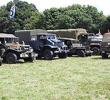 Various Army vehicles by Andy Jordan
