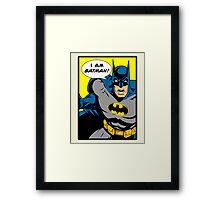 Batman - I Am Batman Comic Design Framed Print