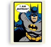 Batman - I Am Batman Comic Design Canvas Print