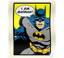 Batman - I Am Batman Comic Design Poster