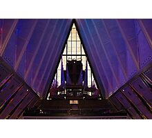 air force academy chapel interior Photographic Print