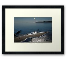 Against The Light - Compton Bay  Framed Print
