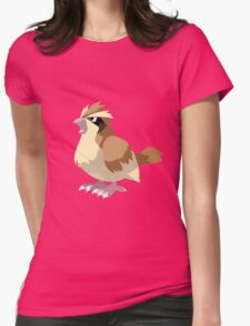 Pidgey Pokemon Simple No Borders Womens Fitted T-Shirt