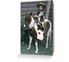 A pony ride back in time... Greeting Card