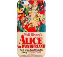 Alice In Wonderland Poster iPhone Case/Skin