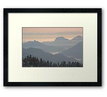 Howe Sound from Diamond Head, British Columbia , Canada Framed Print