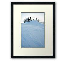 icy windblown ridge , Diamond Head Area, British Columbia , Canada Framed Print
