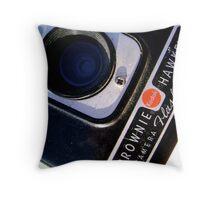 Kodak Brownie Detail Throw Pillow