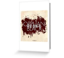 Orphan Black Season 3 Greeting Card
