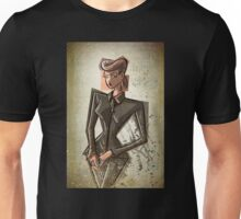 Rachel Blade Runner Racheal Ridley scott sci fi science fiction harrison ford 80's woman female girl nior noir dark brunette fashion crime replicant skin job skinjob  Unisex T-Shirt