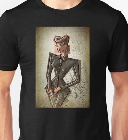 Rachel Blade Runner Racheal Ridley scott sci fi science fiction harrison ford 80's woman female girl nior noir dark brunette fashion crime replicant skin job skinjob  Unisex T-Shirt