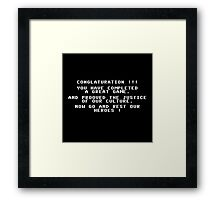 Ghostbusters NES Game Ending Screen Fail Framed Print