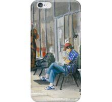 Sidewalk Reader iPhone Case/Skin