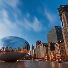 Chicago&#x27;s cloud gate at dawn by Sven Brogren