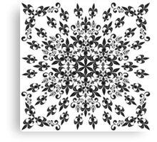 roue de lys (version noir) Canvas Print