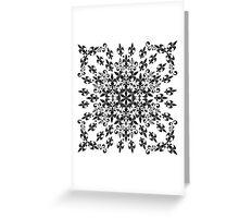 roue de lys (version noir) Greeting Card