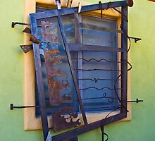 Window Grate in the Barrio by Linda Gregory