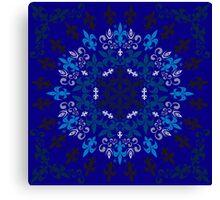 roue de lys (version bleu) Canvas Print