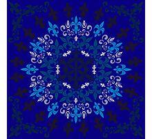 roue de lys (version bleu) Photographic Print