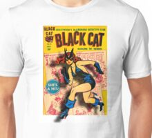 BLACK CAT ON THE PROWL - LARGE Unisex T-Shirt
