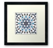 roue de lys (version bleu en blanc) Framed Print