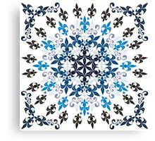roue de lys (version bleu en blanc) Canvas Print