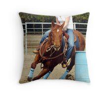 Barrel Raceer Throw Pillow