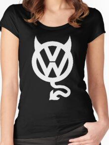 VW DEVIL LOGO Women's Fitted Scoop T-Shirt
