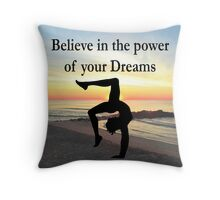 GYMNASTICS DREAMS COME TRUE Throw Pillow