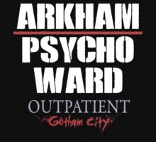 Arkham Psycho Ward - Black T-Shirt