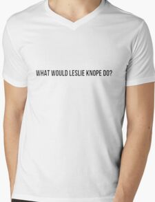 What would Leslie Knope do? Mens V-Neck T-Shirt