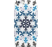 roue de lys (version bleu en blanc) iPhone Case/Skin