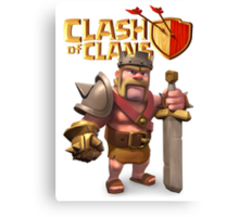 Clash of Clans - Barbarian king Canvas Print