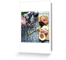 Light Lunch Greeting Card