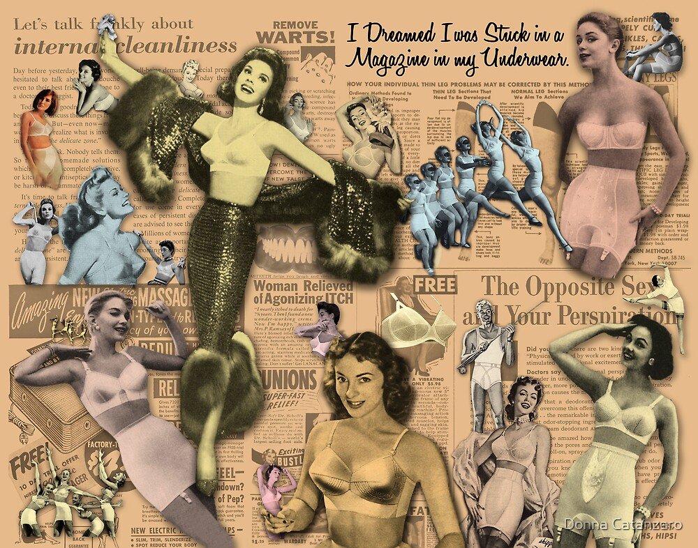 I Dreamed I was Stuck in a Magazine in my Underwear by Donna Catanzaro