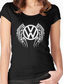 VW Wing LOGO Women's Fitted Scoop T-Shirt
