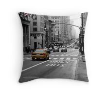 The 3 faces of New York Throw Pillow