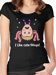 I Like Cute Things! Women's Fitted Scoop T-Shirt