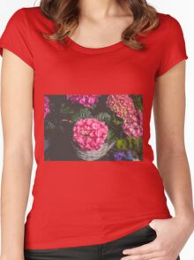 Floral Mood Women's Fitted Scoop T-Shirt