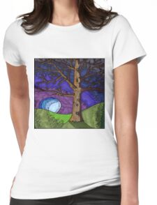 Tree Brown Womens Fitted T-Shirt